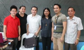 [L-R]: Dante, Nina, Guest speaker Fr. Ryan, Mirana, Michael, Mr. Tumang,