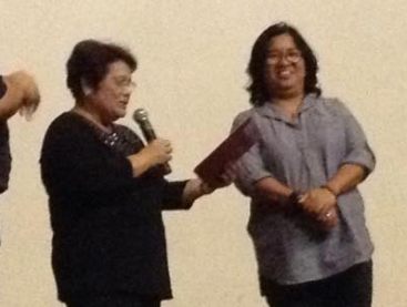 GMEFI President Evelyne Dominguez and Myra Medrana, Deaf Inspirational Speaker