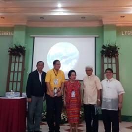 [L-R]: Gov. of Cagayan, VP of Lyceum, Dr. Bernardiata Churchill, Archbishop of Tuguegarao, NCCA Representattive